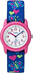 Timex Kids' T89001 Analog Hearts and Butterflies Elastic Fabric Strap Children's Watch Review