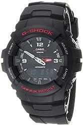 "Casio Men's G100-1BV ""G-Shock"" Watch in Black Resin Review"