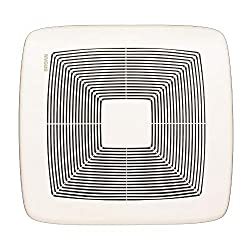 Broan QTXE080 80 CFM Ultra Silent Bath Fan, White Grille