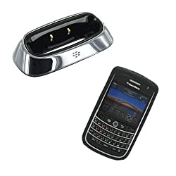 Blackberry OEM Black Silicone Skin Cover Case and Charging Pod for Blackberry Tour 9630