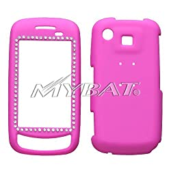 SAMSUNG: A877 (Impression), Hot Pink Diamond Protector Case Rubberized