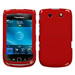 Flaming Red Fot BLACKBERRY TORCH 9800 NEW Snap-On Hard Cover Case Cell Phone Protector Phone Accessory