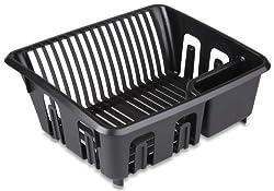 Sterilite 06099006 Dish Drainer Black, 6-Pack