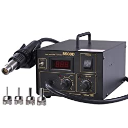 Powerful Easy Operation SMT Lead Free Hot Air Rework Soldering Gun Solder Station LED Digital Display
