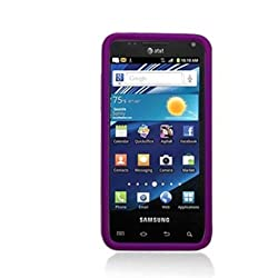 Aimo Wireless SAMI927PCLP014 Rubber Essentials Slim and Durable Rubberized Case for Samsung Captivate Glide i927 – Retail Packaging – Purple