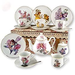 Reutter Porcelain Fairies Large Children's Kids Tea Set in Case
