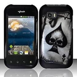 Spade Skull Hard Faceplate Cover Phone Case for LG Eclypse C800G