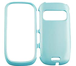 SHINY HARD COVER CASE FOR NOKIA ASTOUND C7-00 PEARL BABY BLUE