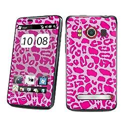 HTC EVO 4G Sprint Vinyl Protection Decal Skin Pink Leopard