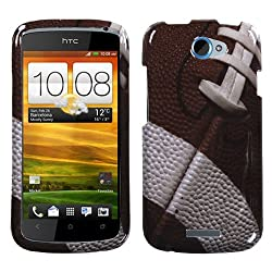 Design Graphic Plastic Case Protector Cover (Football) for HTC One S OneS 1S T-Mobile