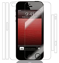 Skinomi® TechSkin – Apple iPhone 5 Screen Protector + Full Body Skin Protector with Lifetime Replacement Warranty / Front & Back Premium HD Clear Film / Ultra High Definition Invisible and Anti-Bubble Crystal Shield – Retail Packaging