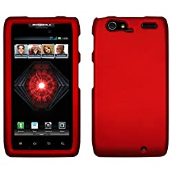 MOTOROLA DROID RAZR MAXX 4G XT913 HONEY DARK RED RUBBER HARD COVER CASE SNAP ON PERFECT FIT