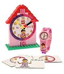 """LEGO Girls' 9005039 """"Time Teacher"""" Set with Plastic Watch, Constructible Clock, and Activity Cards Review"""