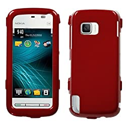 Fits Nokia 5230 Nuron Hard Plastic Snap on Cover Solid Red T-Mobile