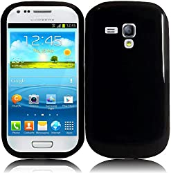 For Samsung Galaxy S3 Mini i8190 TPU Cover Case Black Accessory