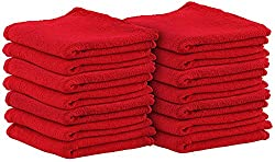Cotton Auto-Mechanic Detailing Shop Towel-Rags – (14 X 14 inches, 25 Pack, Red) Commercial Grade by Utopia Towel Review