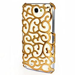Gold Luxury Royal Palace Flower Case Cover For Samsung Galaxy Note II 2 N7100