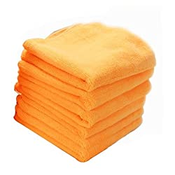 Chemical Guys  MIC3036 Orange Banger Extra Thick Microfiber Towel - 16.5 in. x 16.5 in. (Pack of 6)