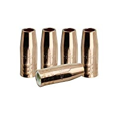 5 Gas Nozzles 21-50 1/2″ for Lincoln Magnum 100L and Tweco Mini/#1 MIG Welding Guns