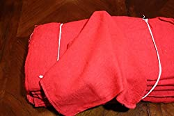 ATLAS BRAND 50 Pieces Red Cotton Shop Towel Rags **Industrial Grade** for Automotive Car Industry Review