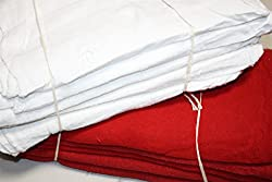 ATLAS BRAND 100 Pieces COMBO (RED 50pc & WHITE 50pc) Cotton Shop Towel Rags **Industrial Grade** for Automotive Car Industry Review