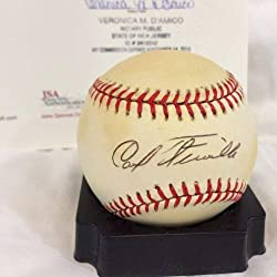 Rare Carl Furillo Single Signed Official National League Baseball & Sgc Coa – JSA Certified – MLB Slabbed Autographed Cards