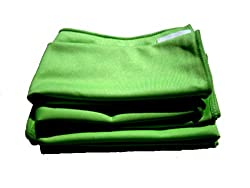 4-pack of Professional Quality Microfiber Glass Cleaning Towels And One Bonus Green 16″ By 16″ All Purpose Microfiber Towel. Review