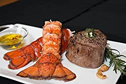 Surf & Turf – 4 (6oz) Filet Mignons & 4 (6oz) Cold Water Lobster Tails – Chicago Steak Company – PSCS001A