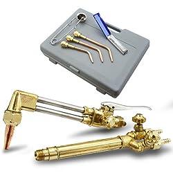 XtremepowerUS Oxygen & Acetylene Welding & Cutting Torch Kit Victor