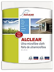 ALCLEAR 950001US Ultra-Microfiber Cleaning Cloth for Windows and smooth surfaces, white, size 17.72 x 15.75 in. Review