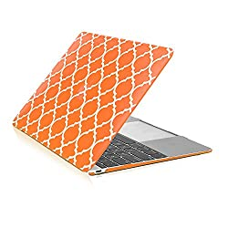 TopCase – Apple the New Macbook 12-Inch 12″ Retina Display Laptop Computer Quatrefoil / Moroccan Trellis Rubberized Hard Shell Case Cover for Model A1534 (Newest Version 2015 ) Review
